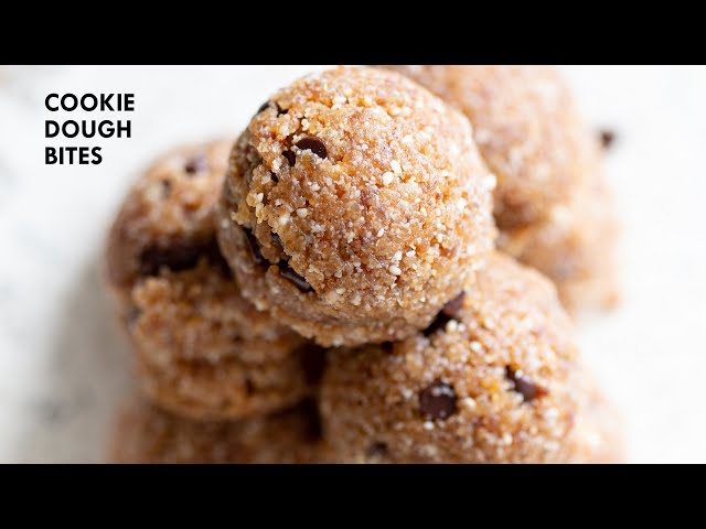 VEGAN COOKIE DOUGH BITES - No Grain | Vegan Richa Recipes