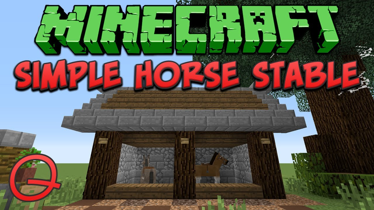 Minecraft Simple Horse Stable Quick Tutorial Youtube