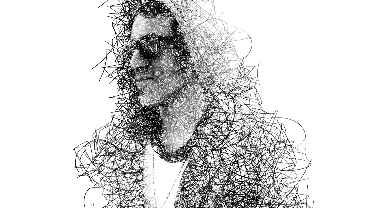 Line Drawing Effect Photo : Photoshop tutorial messy pencil sketch effect youtube