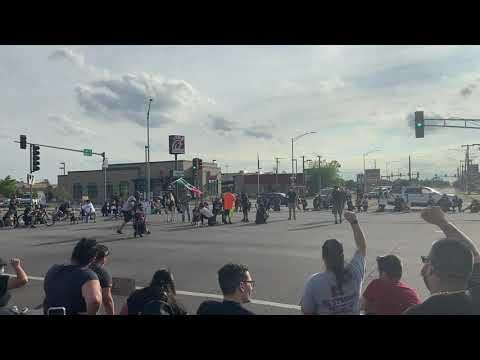George Floyd demonstration closes Harlem-Cermak, June 3, 2020