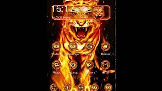 Flaming Tiger Theme & Wallpaper