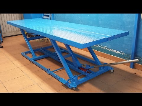 Motorcycle Lift Table Homemade Video 2