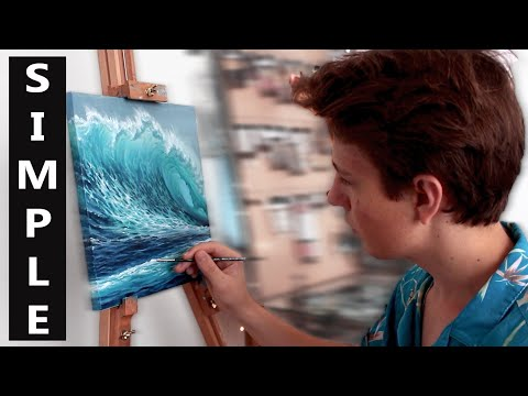 Oil Painting Tutorial - Ocean Wave / 1K GIVEAWAY / Quick Painting Tips An Hacks