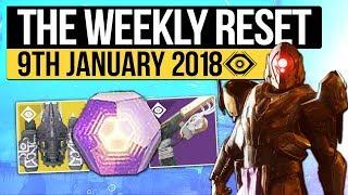 Destiny 2   WEEKLY RESET! - New Year Update, Milestones, Nightfall & Vendor Stock (9th January 2018)