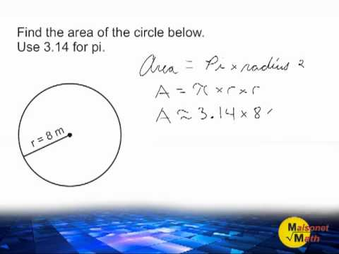 Area of a circle using 314 for pi youtube area of a circle using 314 for pi ccuart Image collections