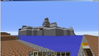 japanese castle (Shimabara Castle) in minecraft マイクラで島原城再現
