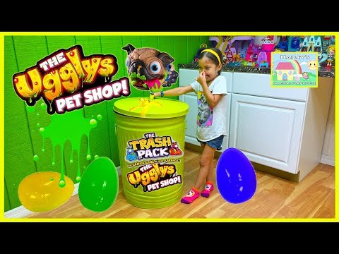 WORLD'S BIGGEST SURPRISE EGG TRASH CAN Toy Surprises Ugglys Pets TrashPack Garbage Truck Toys Review