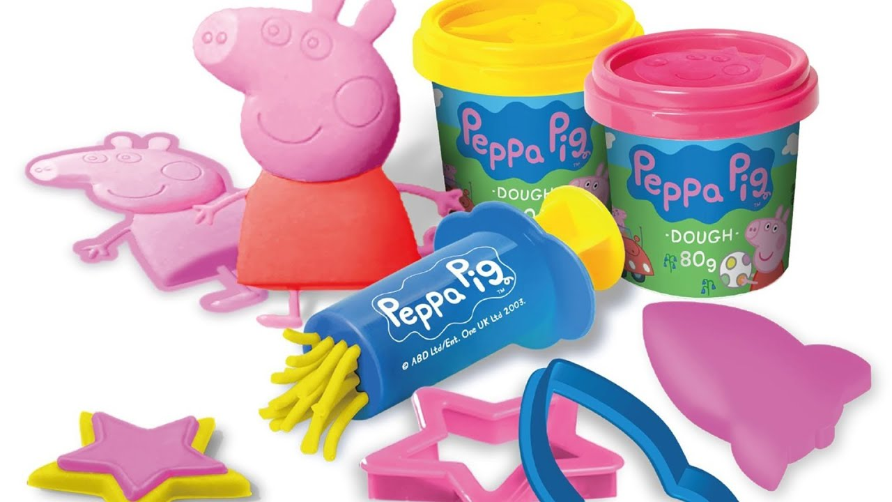 play doh peppa pig english learn colors for kids children