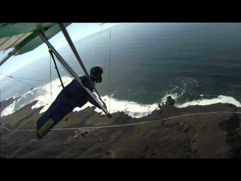 Scenic flying at Big Sur in HD