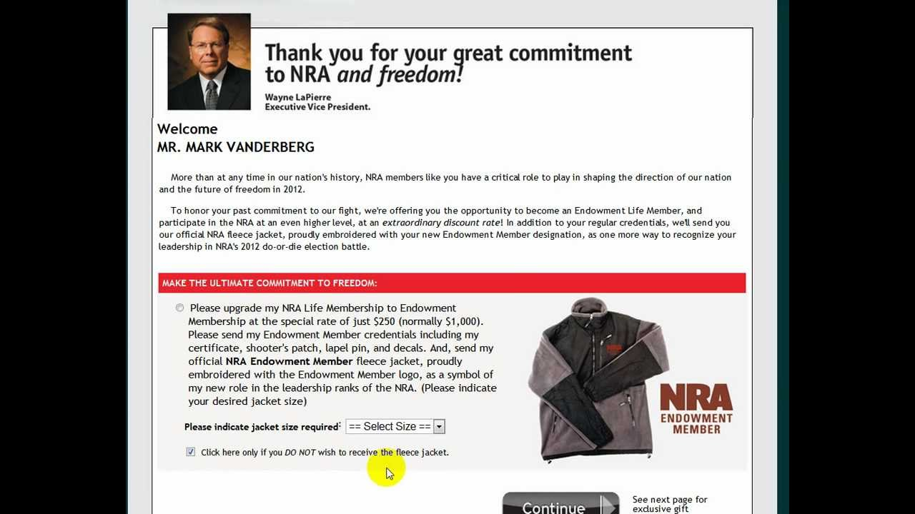 Given an NRA Life Membership $300 - YouTube
