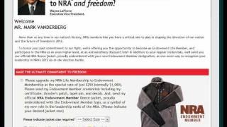 Given an NRA Life Membership $300