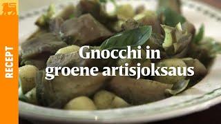 Gnocchi in groene artisjoksaus