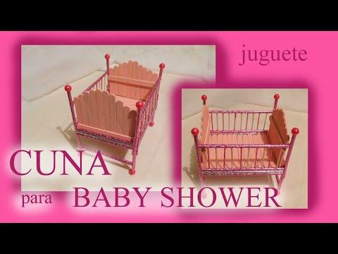 Cómo hacer una CUNA recuerdo BABY SHOWER / JUGUETE / TUTORIAL ...
