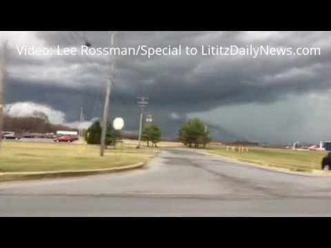 Possible Tornado over Lancaster County, PA on Feb. 25, 2017