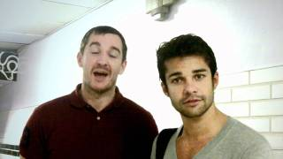 Hollyoaks Anthony Quinlan and Junade Khan (Gilly and Ash) supporting Lymphoma Association Thumbnail