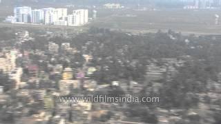 Aerial view of Kolkata city, West Bengal