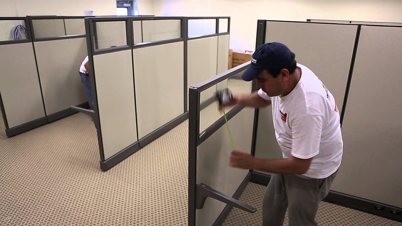 Herman miller canvas office landscapes youtube - Affordable Office Solutions Cubicle Install For Lonestar Overnight