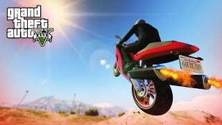 AWESOME BIKE STUNT! - (GTA V Stunts & Fails)