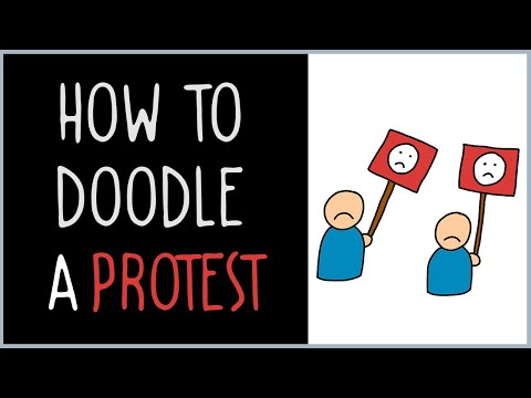 How to Draw a Protest (drawing tips)