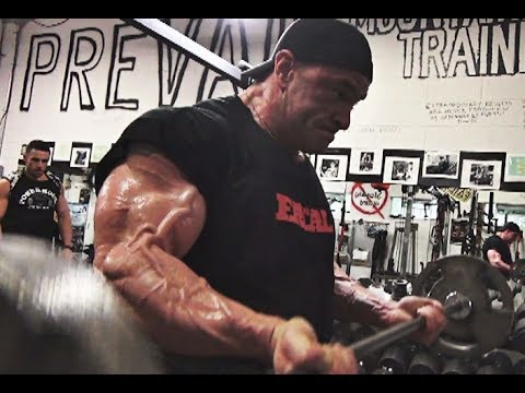 Super Heavy Weight Bodybuilder Ryan Bidigare Trains Arms 4 Weeks Out