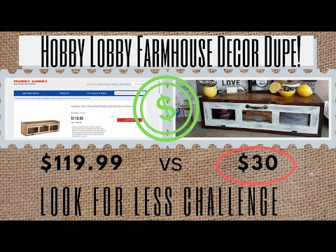 Look for Less Challenge Hobby Lobby Dupe!