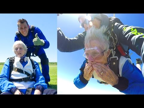 SHE DID IT!! **Grandma Skydives**