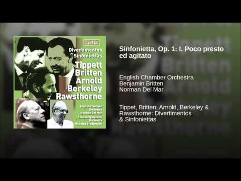 Sinfonietta, Op. 1: I. Poco presto ed agitato