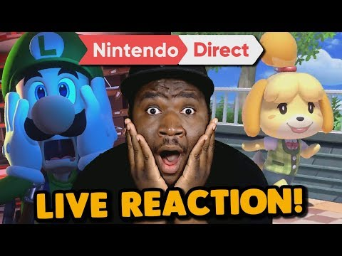 Animal Crossing!? Luigi\'s Mansion3!? AHHHH!!! | Nintendo Direct LIVE REACTION
