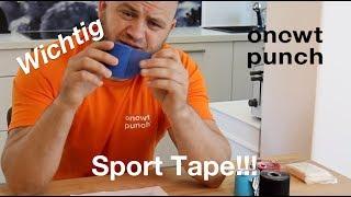 Alles was du über Sport Tape und kinesio Taping wissen muss! One Two Punch Erklärt und Zeigt