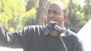 Hon. Aden Duale addressing the public at Ng