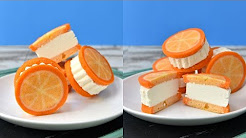 ORANGE CREAMSICLE ICE CREAM SANDWICHES, HANIELA'S