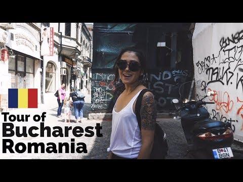 Bucharest Romania Tour of Old Town 🇷🇴