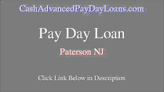 Quick Payday Loan for Paterson NJ (Up to $1000)