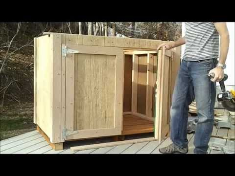 8-How To Hang Shed Doors - How To Build A Generator Enclosure