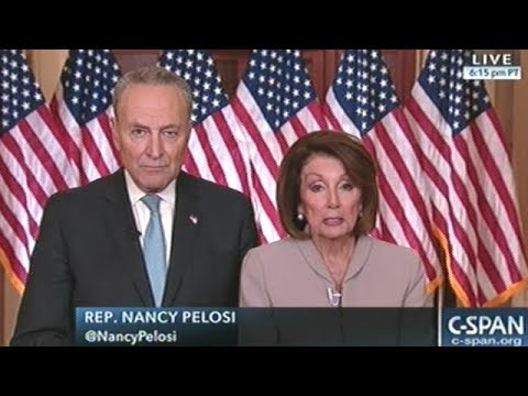 """""""THE FACT IS..."""" Nancy Pelosi And Chuck Schumer Respond To President Trump's Prime Time Address"""