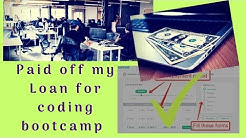 Paid Off My Loan for Coding Bootcamp