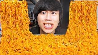韓国の激辛麺辛さ2倍食べたら辛すぎてちょっとムリィィ【モッパン】