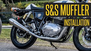 @S&S Cycle, Inc slip-on Installation on @Royal Enfield Continental GT 650