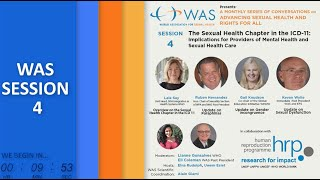WAS Conversations - Session 4: The Sexual Health Chapter in the ICD-11