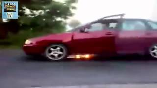 burn out - il pete son moteur