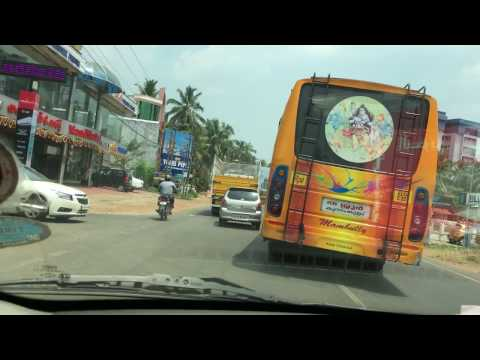 Riding through the  famous Thrissur - Kunnamkulam  State Highway - Part 2