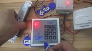 RAYKUBE R-K03 Access Control operation introduction