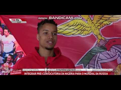 Tyronne Ebuehi é reforço do SL Benfica.