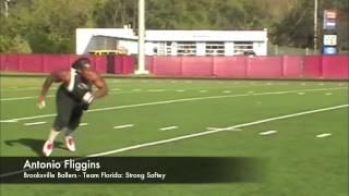 Antonio Fliggins - Work Out - Brooksville Ballers / Team Florida - Strong Safety