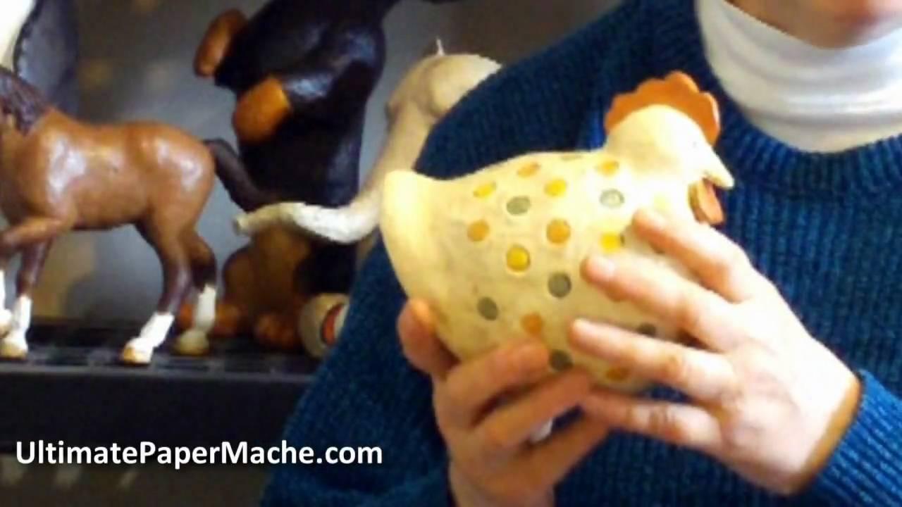 paper mache chicken youtube