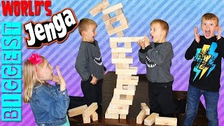 Giant Jenga || Family Game Night
