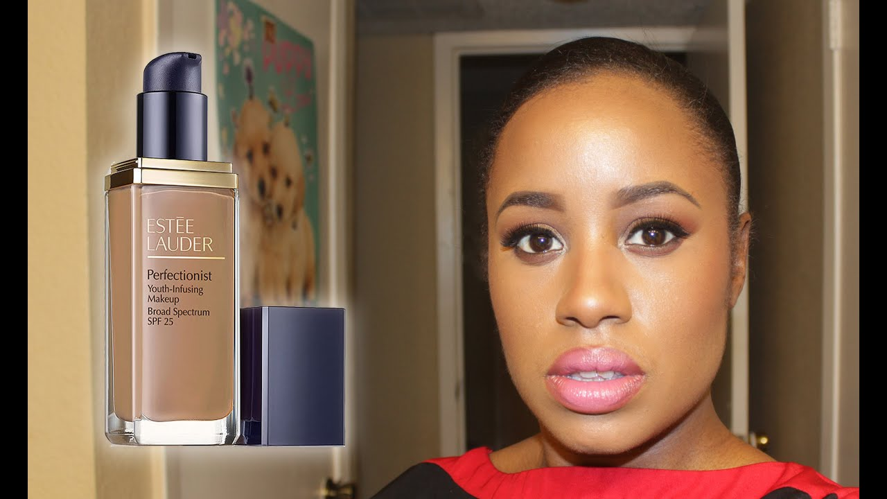Estee Lauder Perfectionist Youth Infusing Foundation Review/Demo/Swatch/Wear Test