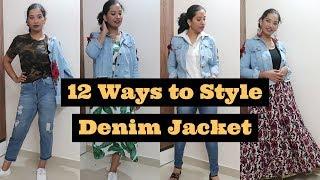 💓12 Ways to Style Denim Jacket I 12 രീതിയിൽ Denim Jacket Style ചെയ്യാം I Style with ASH💓