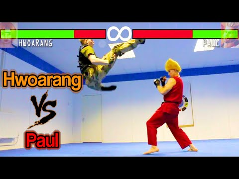 Real Life Tekken Fight | Hwoarang Vs Paul Phoenix | Flips & Kicks