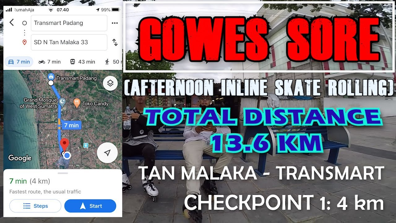 Afternoon Rolling Inline Skate - Distance 13.6KM